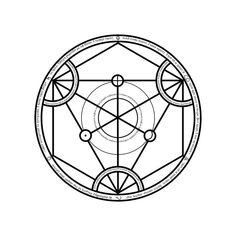 Universal Transmutation Circle by Notshurly on DeviantArt Rune Symbols, Magic Symbols, Runes, Cool Anime Pictures, Sigil Magic, Geometry Pattern, Fullmetal Alchemist Brotherhood, Magic Circle, Sacred Art
