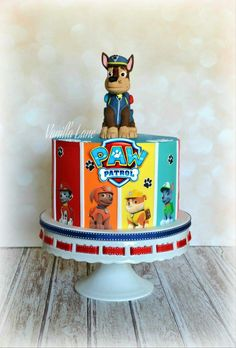 Paw Patrol cake 3rd Birthday Cakes, Frozen Birthday Party, Birthday Celebration, Paw Patrol Birthday Theme, Paw Patrol Party, Torta Paw Patrol, Cake Designs For Boy, Character Cakes, Specialty Cakes