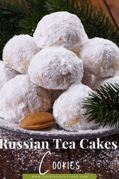 Russian Tea Cakes Recipe aka Mexican Wedding Cookies Christmas Cookie Exchange, Christmas Cookies, Favorite Cookie Recipe, Favorite Recipes, Mexican Wedding Cookies, Russian Tea Cake, Family Christmas Gifts, Tea Cakes