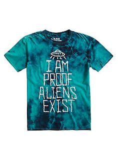 "Aliens exist and you're living proof! Reveal your secret with this tee featuring a green tie dye wash. <br><ul><li style=""list-style-position: inside !important; list-style-type: disc !important"">100% cotton</li><li style=""list-style-position: inside !important; list-style-type: disc !important"">Wash cold; dry low</li><li style=""list-style-position: inside !important; list-style-type: disc !important"">Imported</li><li style=""list-style-position: inside !important; list-style-type: disc…"