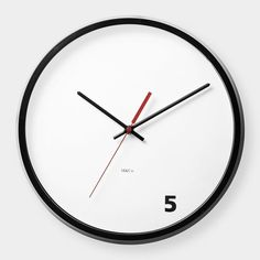 5 O'Clock Wall Clock / The 5 O'Clock Wall Clock from M & Co. is another masterpiece from the company featuring only one digit out of twelve. http://thegadgetflow.com/portfolio/5-oclock-wall-clock/