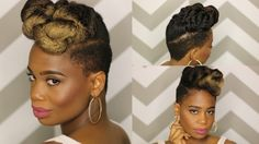 Classic Updo using Clip-ins from Knappy Hair Extensions [Video] - http://community.blackhairinformation.com/hairstyle-gallery/updos/classic-updo-using-clip-ins-knappy-hair-extensions-video/