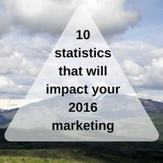 I'll be sharing 10 stats that should help you justify spending more of your 2016 on content driven marketing efforts.
