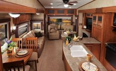 2012 - Eagle - Fifth Wheels - Jayco This has everything you could want in a 5TH wheel! Love it Camper Life, Rv Life, Rv Homes, Motor Homes, Rv Motorhomes, Rv Trailers, Travel Trailers, Luxury Rv, Trailer Interior