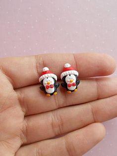 Christmas Penguin Earrings Penguin Earrings Christmas