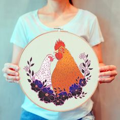Unique Cross Stitch & Crochet Patterns by MyPatternEU Chicken Cross Stitch, Cross Stitch Patterns, Crochet Patterns, Chicken Pattern, Cute Chickens, Etsy Seller, Rustic, Create, Link