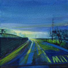 Slow Lane 1. Print by Kate Boyce £15 #art #print #folksy #blue #uk