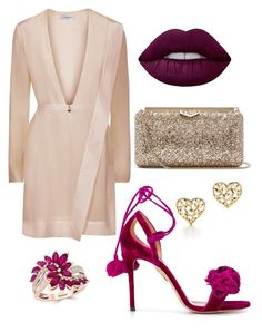 """""""Untitled #3"""" by beacraven ❤ liked on Polyvore featuring Jimmy Choo, La Perla, Aquazzura, Lime Crime, Paloma Picasso, Effy Jewelry, redcarpetstyle and OscarsThrowback"""