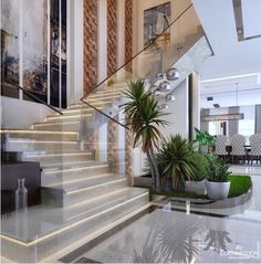 Ideas Exterior Stairs Design Dreams For 2019 Home Stairs Design, Home Room Design, Dream Home Design, Modern House Design, Home Interior Design, Exterior Design, Kitchen Design, Modern Interior, Interior Decorating