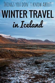 Winter travel in Iceland
