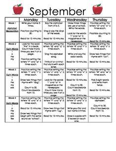 school assignments calendar