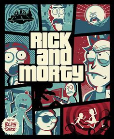 Rick And Morty - Gta Digital Art by Rick And Morty