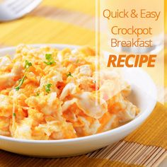 Quick & Easy CrockPot Breakfast Recipe Inspiring You to Dream Big Easy Crockpot Breakfast Recipe, Crockpot Breakfast Casserole, Breakfast Recipes, Slow Cooker Recipes, Cooking Recipes, Crock Pot Food, Quick Meals, Breakfast Frittata, Breakfast Hash