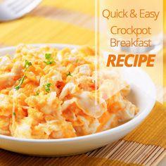 Quick and easy breakfast casserole Crockpot recipe