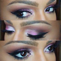 "@Sugarpill Cosmetics Cosmetics Cosmetics ""birthday girl"" on the lid. @L Mahaffey Collins Cosmetics ""nude"" on inner lid. Mac brownscript and @Sugarpill Cosmetics Cosmetics Cosmetics ""bulletproof"" in the crease. @Sophia Thomas oranje Cosmetics black gel liner. #anastasiabeverlyhills #flutterlashes #sugarpill #nyxcosmetics - @makeupshayla- #webstagram"