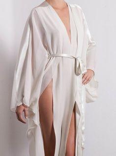 Marika Vera SELENE Silk Chiffon Kimono Robe