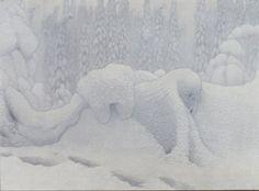 Fjaestad, Gustaf (1868-1948),  Från Dovrefjäll (1904), Olja på duk, 132x180