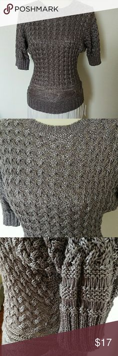 Jennifer Lopez knit top Great condition , beautiful color gray with silver Jennifer Lopez Tops