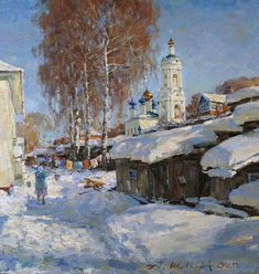 Painting by Alexander Shevelev Russian Artist.