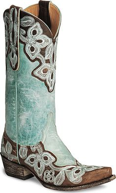 I am lusting for some cowgirl boots!    And these are so affordable... not.
