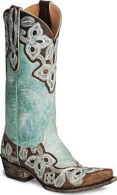 turquoise cowboy boots #brideboots #farmwedding #weddingchicks ...