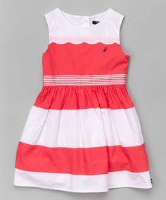 Loving this Melon Stripe Dress - Infant, Toddler & Girls on #zulily! #zulilyfinds
