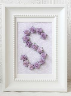 """Lavender Rose Personalized Initial Frame (But with an """"A"""")"""