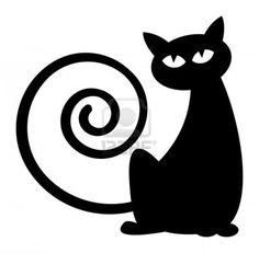 Cat silhouette Stock Photo