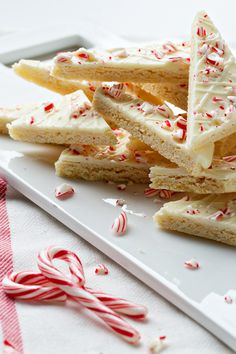 Peppermint Sugar Cookie Bark   My Baking Addiction on We Heart It.