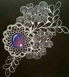 Zen gem on black