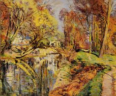 The Banks of the Orge at Epiney, Ile de France (Armand Guillaumin - 1889)