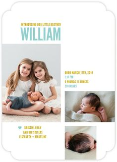 sibling birth announcements