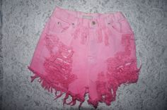 238f4c55d6 28 in Waist Cutoff Distressed High Waisted Jean Shorts in Pink Ombre from  TheKaseCollective on Etsy