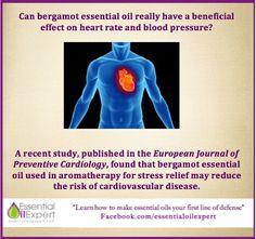 Bergamot Essential Oil & Preventative Cardiology Study Results