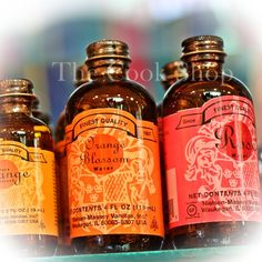 We stock Nielsen-Massey extracts and waters.