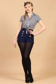 The Military Shorts By Pinup Couture