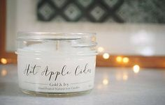 HOT APPLE CIDER soy candle 4 oz Hand Poured Non Toxic