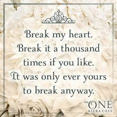 - Prince Maxon to America Singer, The One :)