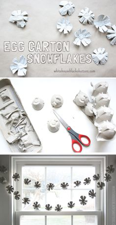 Simple Egg Carton Snowflakes! perfect indoor winter activity and fun for kids to make