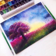 Beautiful watercolor works by Nastia Lev
