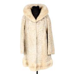 45d2364fc88f Blond Persian Lamb Coat with Mink Fur Collar
