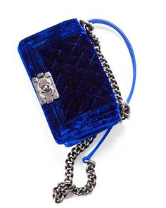 Loving this cobalt Chanel Boy Flapbag...can you imagine this as inspiration for your floors? I can!
