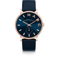 691929c0a5ee Marc by Marc Jacobs Women s Watches Baker Strap 36mm Navy Blue Women s... (