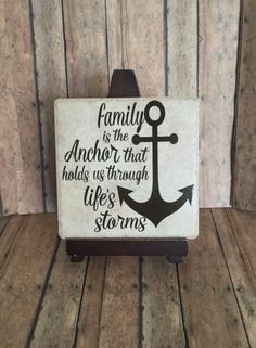 family is the anchor, anchor hopes sign family sign, family decor,home decor, wall art of family ceramic tile , vinyl bug designs, by Vinylbugdesigns on Etsy https://www.etsy.com/listing/270241104/family-is-the-anchor-anchor-hopes-sign