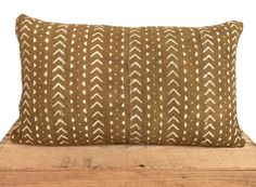 Eliott Mudcloth Pillow Tan/ Brown Authentic Mud Cloth Pillow Pillow Inserts, Pillow Covers, African Mud Cloth, White Bedroom, Camel, Hand Weaving, Throw Pillows, Beige, Brown