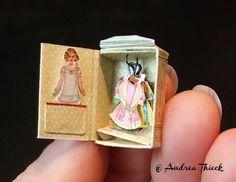 Andrea Thieck Miniatures: Paper Doll Wardrobe