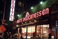 Katz's Delicatessen, E. Houston and Ludlow, lower east side of Manhattan. Best deli on the planet, no contest.