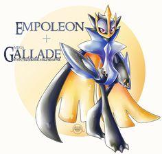 Empoleon X Mega Gallade by on DeviantArt Pokemon Plush, Play Pokemon, New Pokemon, Pokemon Fusion Art, Pokemon Fan Art, Pokemon Rayquaza, Powerful Pokemon, Mew And Mewtwo, Fantasy Creatures