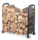 Landmann Adjustable Firewood Rack The Landmann Adjustable Firewood Rack is a versatile firewood storage rack that can expand or contract to the size of your wood pile. As your firewood stock deplete Outdoor Firewood Rack, Firewood Holder, Firewood Logs, Firewood Storage, Outdoor Storage, Buy Firewood, Stacking Firewood, Fireplace Grate, Log Home Interiors