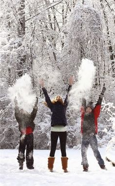 Snow Family Pictures, Winter Family Photos, Winter Pictures, Family Pics, Winter Family Photography, Snow Photography, Christmas Photography, Levitation Photography, Exposure Photography